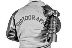 Event Photographer With Jacket and Camera Stock Photography