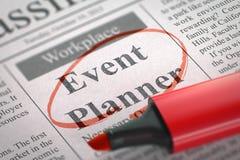 Event-Planer Job Vacancy 3d Stockfotografie