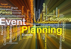 Event planning background concept glowing Royalty Free Stock Image