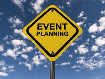 Event planning sign Stock Images