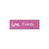 Event rectangle button Royalty Free Stock Photos