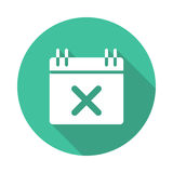 Event remove icon. Event remove vector Glyphs Shadow Icon Royalty Free Stock Image