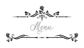 Event roses frame. Ornamental frame with roses. Solemn floral element for design banner,invitation, leaflet, card, poster and so on. Wedding or jubilee theme Stock Images