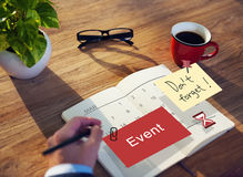 Event Schedule Occasion Planner Reminder Concept vector illustration