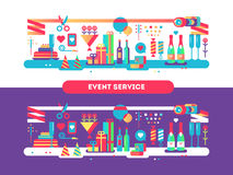 Event service design flat Royalty Free Stock Image
