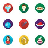 Event service set icons in flat style. Big collection of event service vector symbol. Event service set icons in flat design. Big collection of event service Royalty Free Stock Photography
