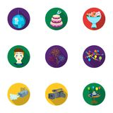 Event service set icons in flat style. Big collection of event service vector symbol  Royalty Free Stock Photography