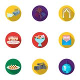 Event service set icons in flat style. Big collection of event service vector symbol stock illustration. Event service set icons in flat design. Big collection Royalty Free Stock Images