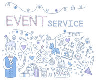 Event Service. Vector Illustration Stock Photo