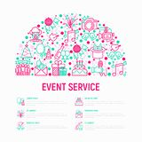 Event Services Concept In Half Circle Royalty Free Stock Photography