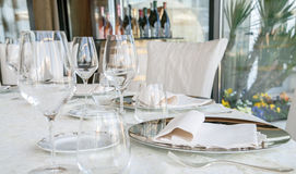 Event setting lunch in restaurant Stock Photos