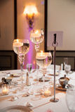 Event table set up Stock Photography