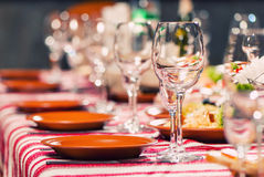 Event table view Royalty Free Stock Photography