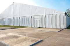 Event tent. Large white event tent on the campus area of the technical university of enschede, netherlands royalty free stock images