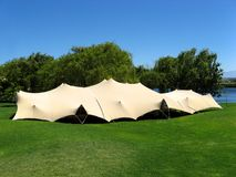 Event Tent 2. Landscape photo of a Bedouin-style event tent royalty free stock photo