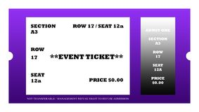 Event ticket Royalty Free Stock Images