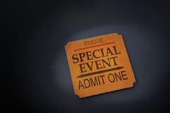 Event ticket. Stub in spotlight Royalty Free Stock Photos