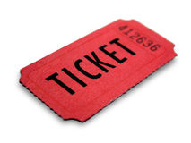 Event ticket royalty free stock photography
