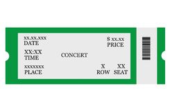 Event ticket Stock Photography
