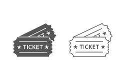 Event tickets  icons 2. Couple of event tickets  icons with with and black colors Royalty Free Stock Images