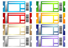 Event tickets set Royalty Free Stock Photos