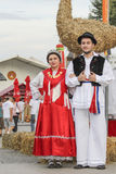Event of the Vinkovci Autumn, couple posing Stock Image
