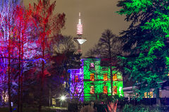 Event Winterlichter  in the Palmgarden Stock Photography