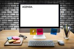 Eventi del calendario di informazioni di attività di ordine del giorno e Appointm di riunione fotografia stock libera da diritti