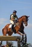 Eventing Pferd P Funnell Stockbild