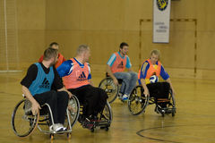 Evento 2008 do handball da cadeira de rodas Fotografia de Stock Royalty Free