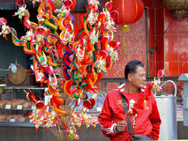 Evento chino 2016, Bangkok del festival del Año Nuevo, Tailandia Fotos de archivo