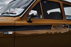 Evento clásico del coche del vintage de Ford Escort Foto de archivo