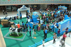 Evento 2015 da exploração agrícola da produção animal de Hong Kong Dutch Lady Pure Imagem de Stock