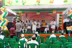 Evento da união dos vendedores ambulantes, Kolkata, Índia Foto de Stock Royalty Free