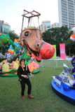 Evento das artes no parque Mardi Gras em Hong Kong Fotografia de Stock Royalty Free