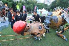 Evento das artes no parque Mardi Gras em Hong Kong Fotos de Stock Royalty Free