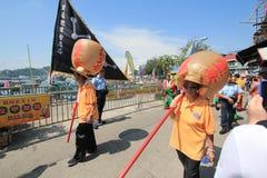 Evento de Cheung Chau Bun Festival 2015 en Hong Kong Fotografía de archivo