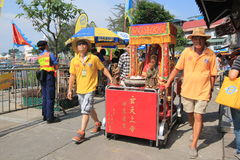 Evento de Cheung Chau Bun Festival 2015 en Hong Kong Fotos de archivo libres de regalías
