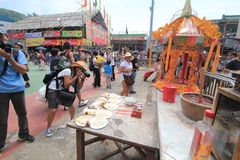 Evento de Cheung Chau Bun Festival 2015 en Hong Kong Foto de archivo