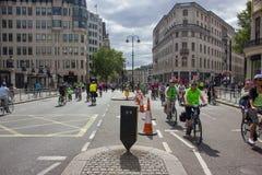 Evento de ciclo de RideLondon - Londres 2015 Imagenes de archivo