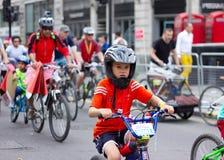 Evento de ciclo de RideLondon - Londres 2015 Imágenes de archivo libres de regalías