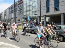 Evento de ciclo del alcalde en Cracovia con 3500 participantes Imagen de archivo