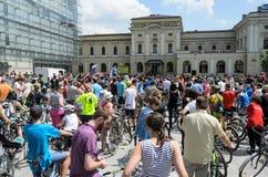 Evento de ciclo del alcalde en Cracovia con 3500 participantes Fotografía de archivo