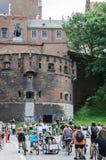 Evento de ciclo del alcalde en Cracovia con 3500 participantes Foto de archivo libre de regalías