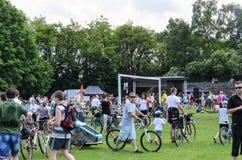 Evento de ciclo del alcalde en Cracovia con 3500 participantes Fotos de archivo