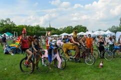 Evento de ciclo del alcalde en Cracovia con 3500 participantes Fotografía de archivo libre de regalías