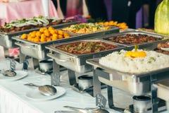 Evento de la boda de la comida del abastecimiento fotografía de archivo libre de regalías