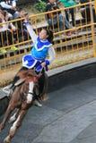 Evento de la demostración del caballo en Taiwán Foto de archivo libre de regalías