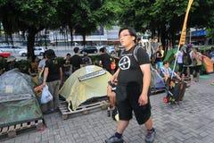 Evento 2015 de la marcha de Hong Kong del vigésimo sexto aniversario de las protestas de la Plaza de Tiananmen de 1989 Imagen de archivo libre de regalías