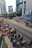 Evento 2015 de la marcha de Hong Kong del vigésimo sexto aniversario de las protestas de la Plaza de Tiananmen de 1989 Foto de archivo libre de regalías